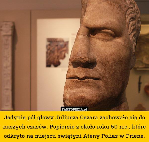 Popiersie Juliusza Cezara Juliusza Cezara Zachowało