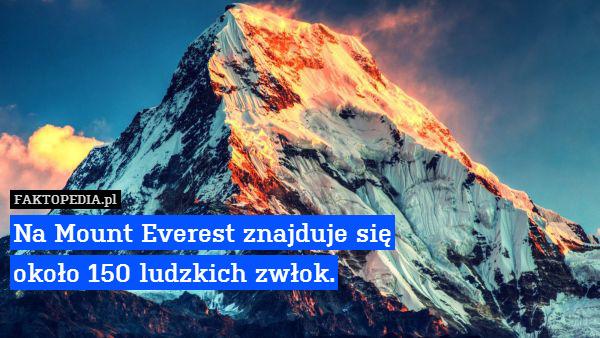 Na Mount Everest znajduje się – Na Mount Everest znajduje się około 150 ludzkich zwłok.