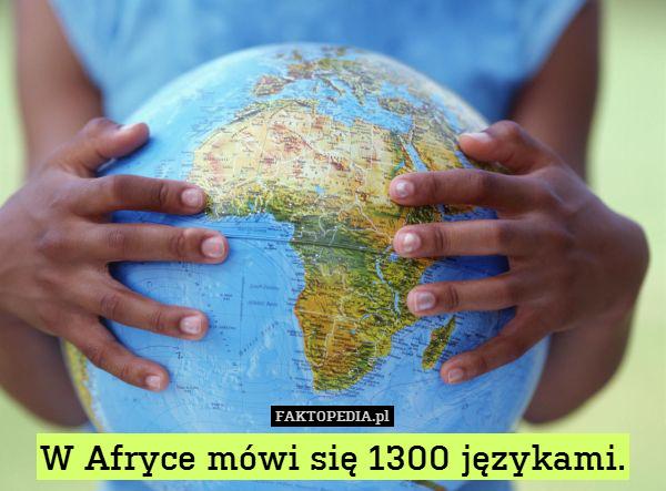 W Afryce mówi się 1300 językami. – W Afryce mówi się 1300 językami.