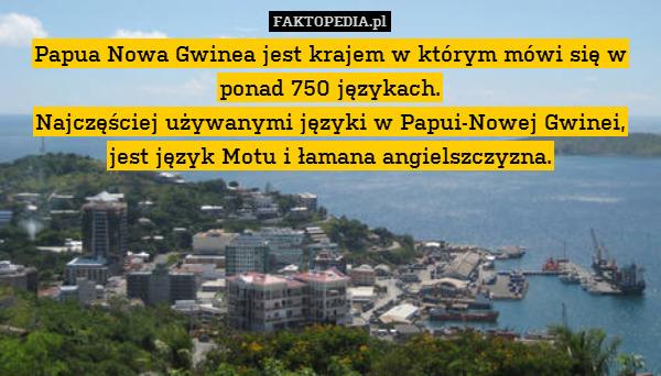 Papua Nowa Gwinea jest krajem – Papua Nowa Gwinea jest krajem w którym mówi się w ponad 750 językach. Najczęściej używanymi języki w Papui-Nowej Gwinei, jest język Motu i łamana angielszczyzna.