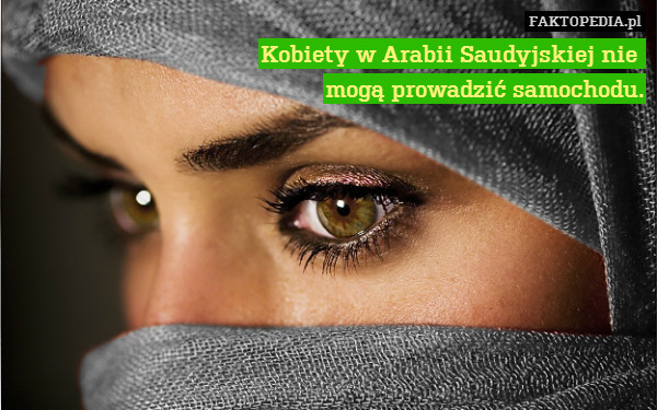 Kobiety w Arabii Saudyjskiej nie – Kobiety w Arabii Saudyjskiej nie  mogą prowadzić samochodu.