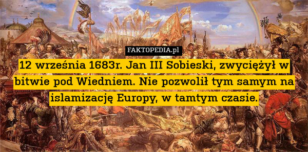 sobieski muslim Statue of jan iii sobieski desecrated on the kahlenberg  iii sobieski of poland,  kill the muslim or be enslaved.