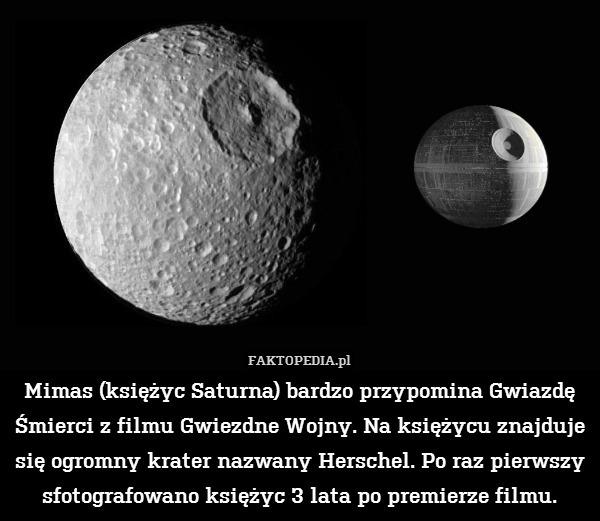 Mimas Księżyc Saturna Bardzo