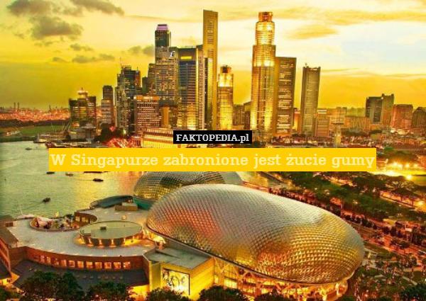 W Singapurze zabronione jest żucie – W Singapurze zabronione jest żucie gumy