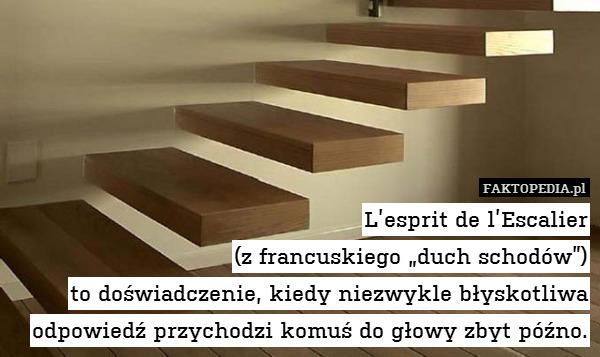 l esprit de l escalier z francuskiego