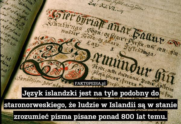 Ciekawostka o Islandzkim języku