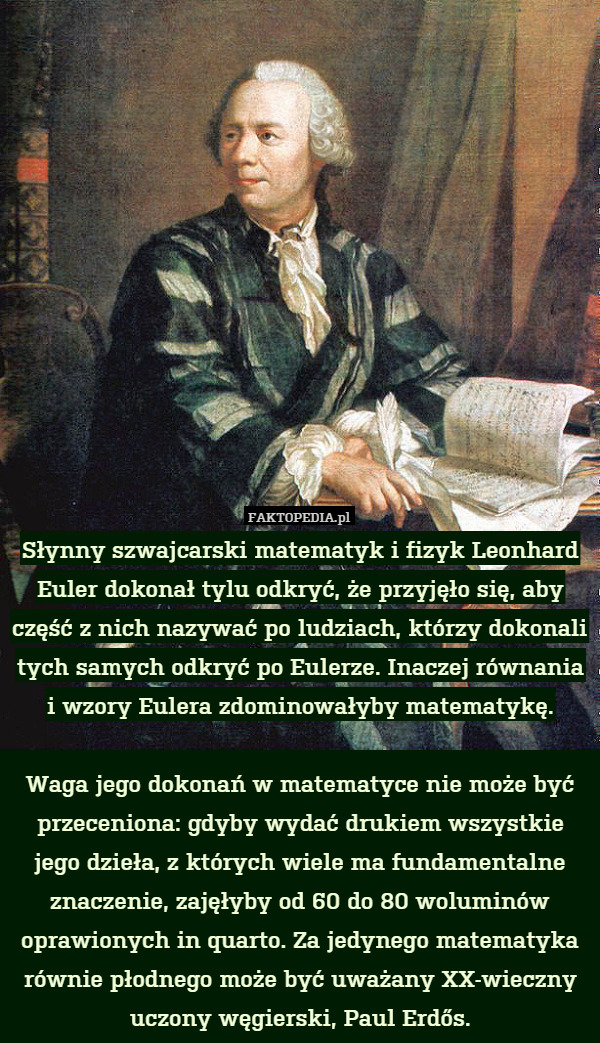 leonhard euler essay Leonhard euler is a recognized swiss mathematician who is considered to be a pioneer in algebra and number theory (simonis 68) the man not only contributed in the subject of algebra but also in mechanics, optics, and lunar motion.