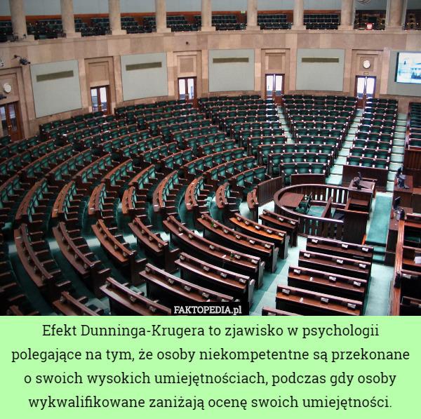 Efekt Duninga-Krugera to zjawisko w psychologii polegające na tym, że osoby – Efekt Dunninga-Krugera to zjawisko w psychologii polegające na tym, że osoby niekompetentne są przekonane o swoich wysokich umiejętnościach, podczas gdy osoby wykwalifikowane zaniżają ocenę swoich umiejętności.