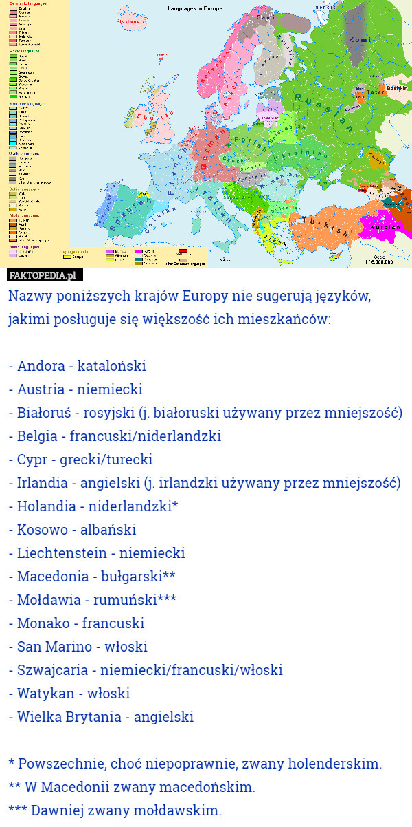 71870028592956 Nazwy poniższych krajów nie sugerują języków, jakimi posługuje się większość