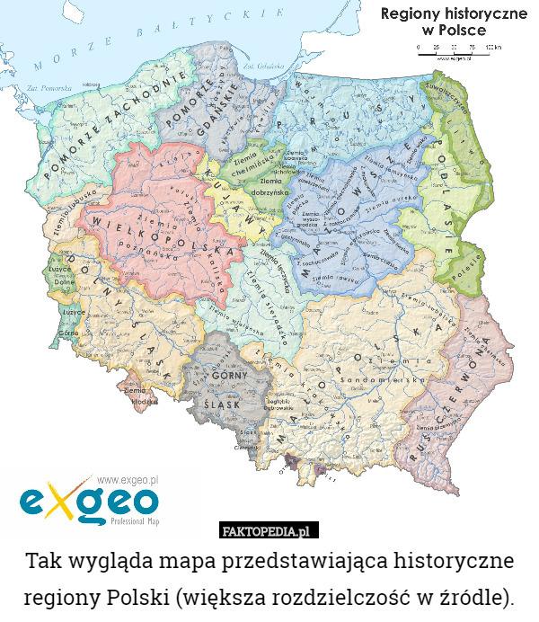 Tak Wyglada Mapa Przedstawiajaca Historyczne Regiony Polski