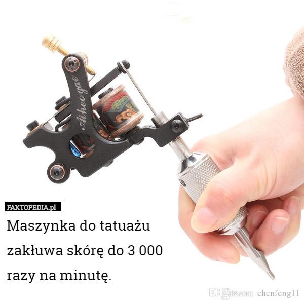 Nowoczesna architektura Maszynka do tatuażu zakłuwa skórę do 3 000 razy na minutę. RN21