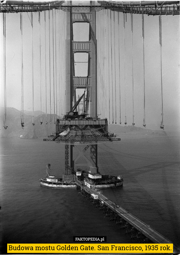Budowa mostu Golden Gate. San Francisco, 1935 rok. – Budowa mostu Golden Gate. San Francisco, 1935 rok.